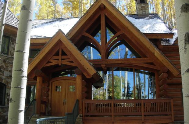 Gothic Log Home