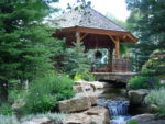 Alt text: 113 Highlands Way gazebo with water feature